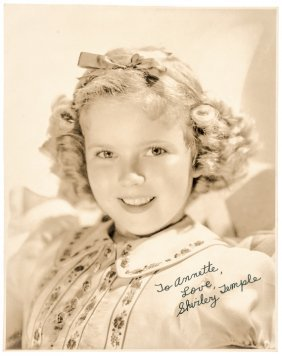 Great Shirley Temple Autograph Photograph Signed