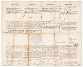 John Tyler, Daniel Webster Autograph Document