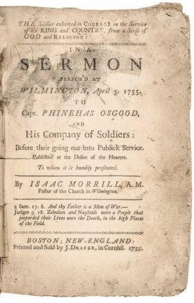 1755 Rare French & Indian War Printed Sermon