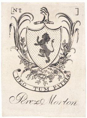 Paul Revere Engraved Bookplate Of Perez Morton