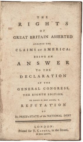 1776 Book: The Rights Of Great Britain