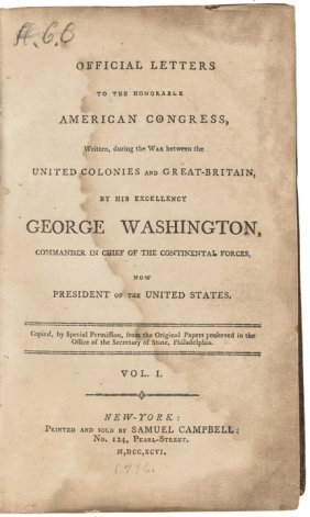 1796 Revolutionary War Letters George Washington