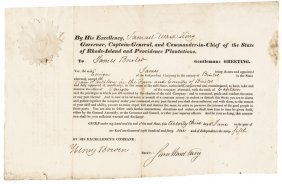 1841 Governor Samuel King Signed Appointment