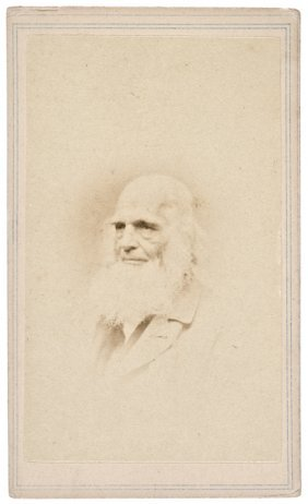 1860s Carte De Visite Photo William Cullen Bryant