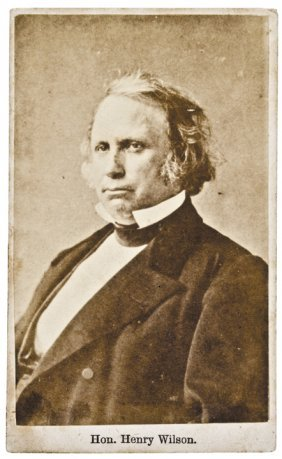 Henry Wilson Cdv Photo Vice President Of The Us