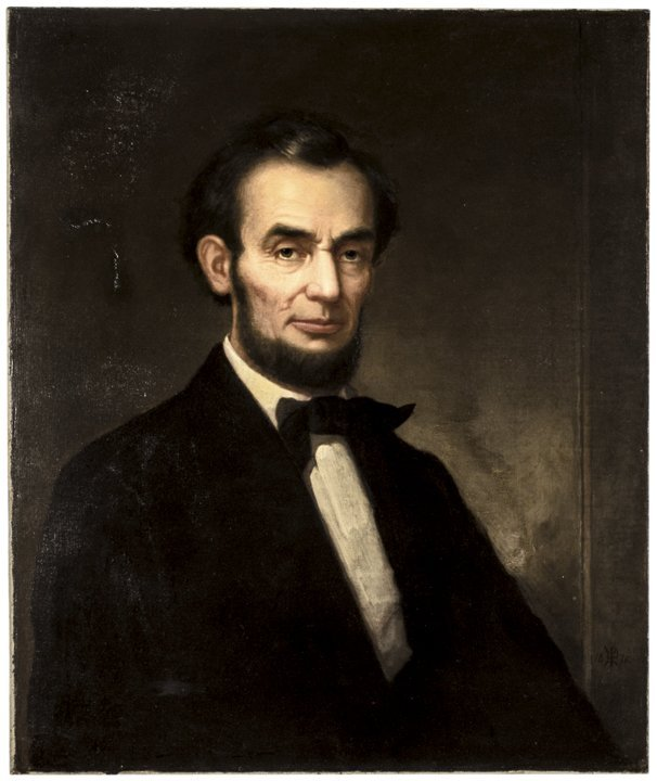 c. 1860 Abraham Lincoln Oil Painting on Canvas