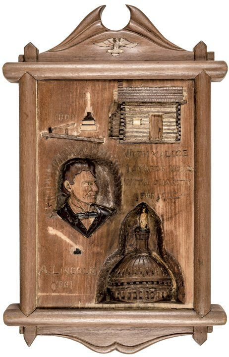 Vintage Folk Art Carving Life of Abraham Lincoln