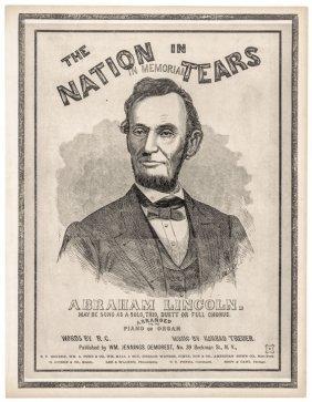 C. 1865 Abraham Lincoln Assassination Era Prints