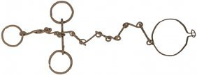 18th Century Hand-forged Iron Slave Shackle Set