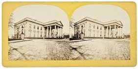 1869-dated Post Civil War White House Stereoview