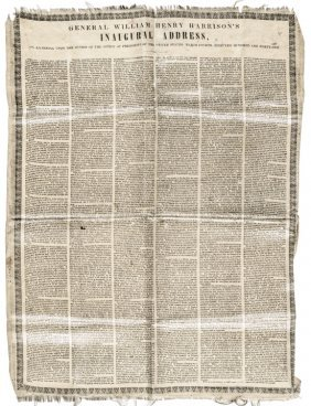 William Henry Harrison's Silk Inaugural Address