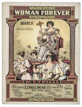 1916 Historic Sheet Music Titled, Women Forever