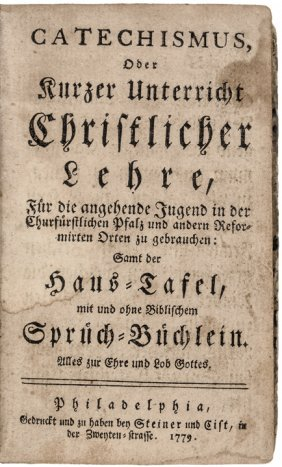 1779 Mennonite 1st U.s. Edition Religious Book