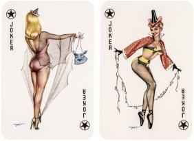 C. 1940 Pin-up Girls Illustration Playing Cards