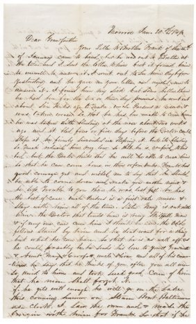 1849 California Gold Rush Autograph Letter Signed
