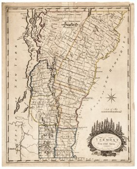 1795 Amos Doolittle Engraved Map Of Vermont