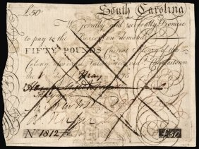 Colonial Currency, Sc 1775, Henry Middleton Note