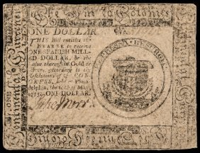 Continental Currency. May 10, 1775. $1. Fr Cc-1
