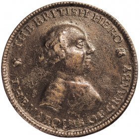 1759-dated Granby Medal. Betts Unlisted Bronze Ef