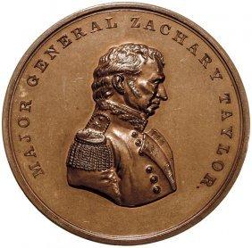1848 Maj. General Zachary Taylor Monterey Medal