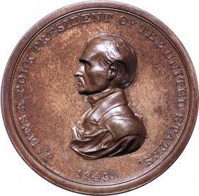 1845 James Polk Indian Peace Medal Ngc Ms-65