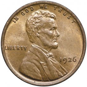 1926 Lincoln Cent Gem Red-brown Uncirculated