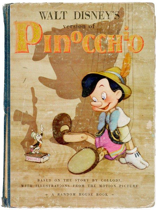 2004: WALT DISNEY Signed Pinocchio Book , 1939