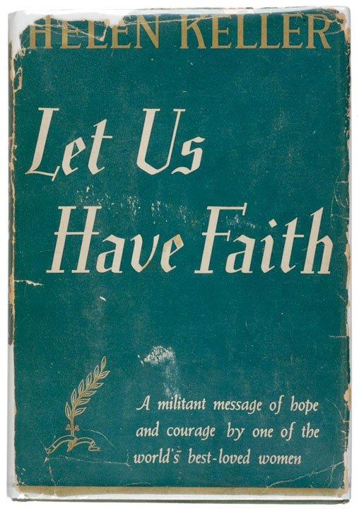 2010: HELEN KELLER, Signed Book, 1940