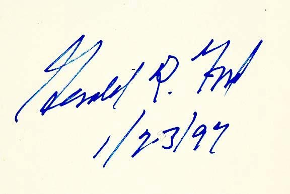 2012: GERALD R. FORD, Warren Commission Book Signed