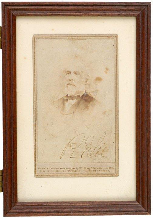 2013: ROBERT E. LEE, Signed Carte-de-Visite
