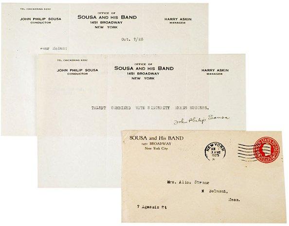 2022: JOHN PHILIP SOUSA, Typed Letter Signed, 1925