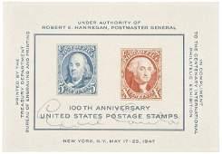 EDDIE CANTOR & PETER LIND HAYES Signed Stamps