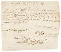 1713 NY Royal Governor GEORGE CLARKE Signed Doc.