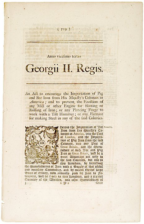 2006: ACT Regarding Restriction of Trade, 1750 British