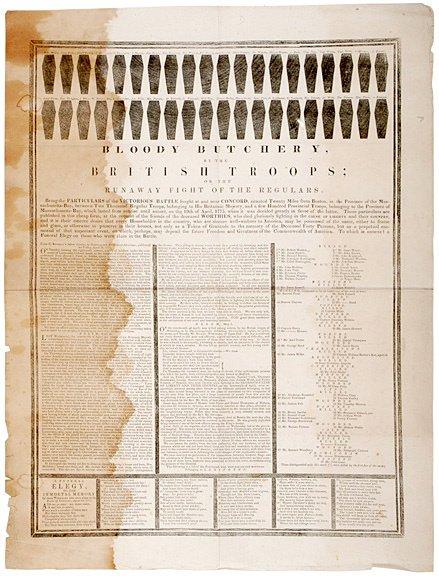 2016: 1875 Reprint of Revolutionary War Broadside