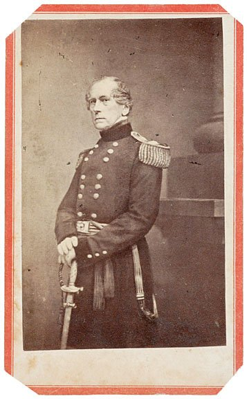 2113: Civil War, CDV of General John Wool by Anthony