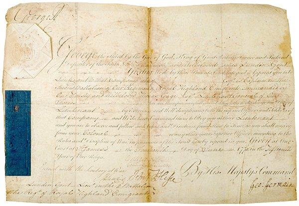 2: Revolutionary War Documents, 1775, Thomas Gage