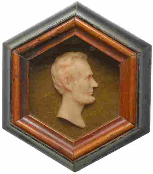 353: c. 1865, Abraham Lincoln Wax Relief Profile
