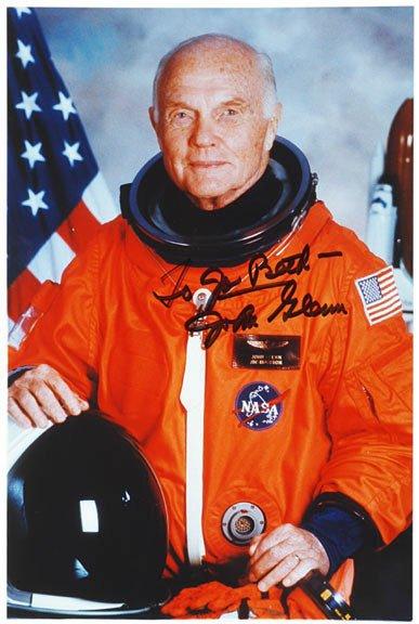 3002: Astronaut JOHN GLENN Signed Color Photograph