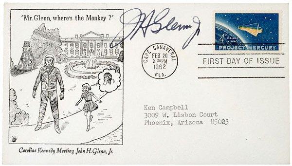 3003: Astronaut JOHN GLENN Signed Mercury Cover