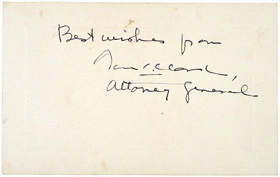 3012: THOMAS C. CLARK Signed Card