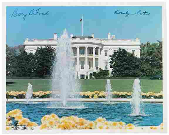 Rosalyn Carter, Betty Ford Signed Image