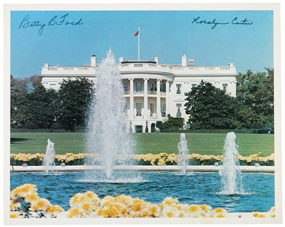 3022: Rosalyn Carter, Betty Ford Signed Image