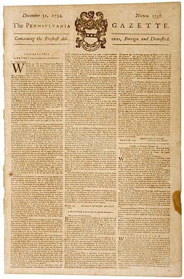 3071: Advertisement for POOR RICHARDS ALMANACK, 1754