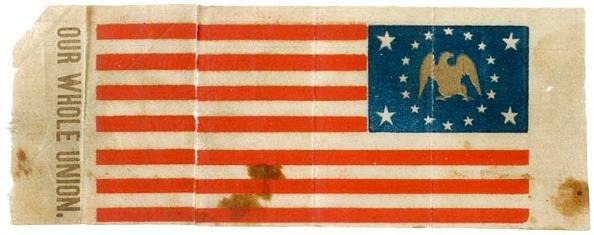 3289: Civil War 20-Star Flag With Gold Eagle