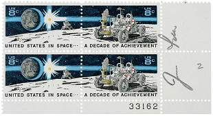 Lot 5: Postage Stamps Signed by ASTRONAUT Jim Irwin
