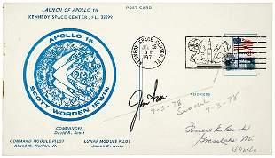 Lot 9: Apollo Astronaut Jim Irwin Signed Postcard