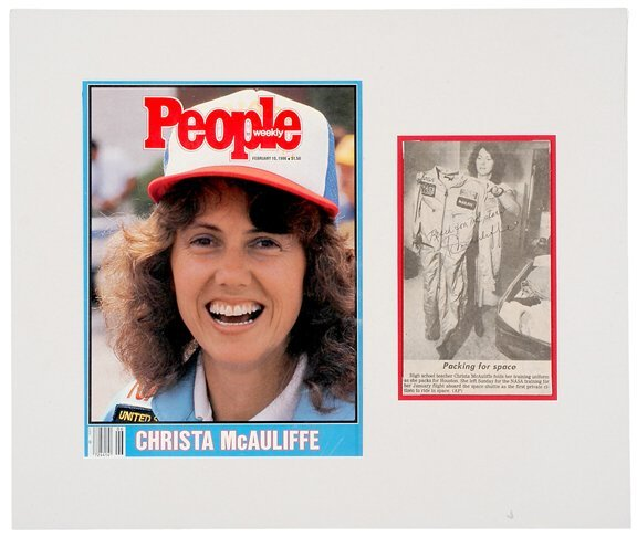 Lot  10: Astronaut Christa McAuliffe Signed Picture