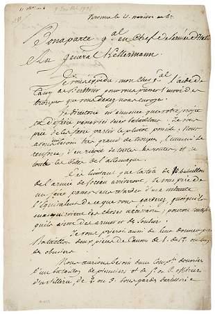 Lot 14: Napolean Bonaparte Signed Document 1795