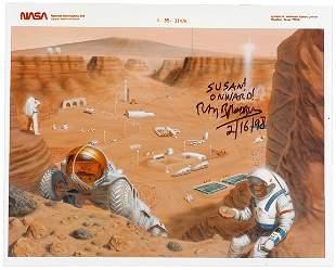 Lot 16: 1968 Ray Bradbury Signed Martian Colony